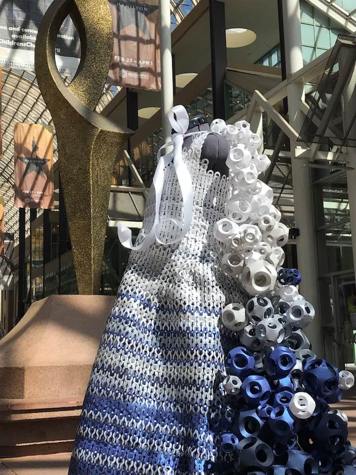 Paper Fashion Show 2018-Azure Waves